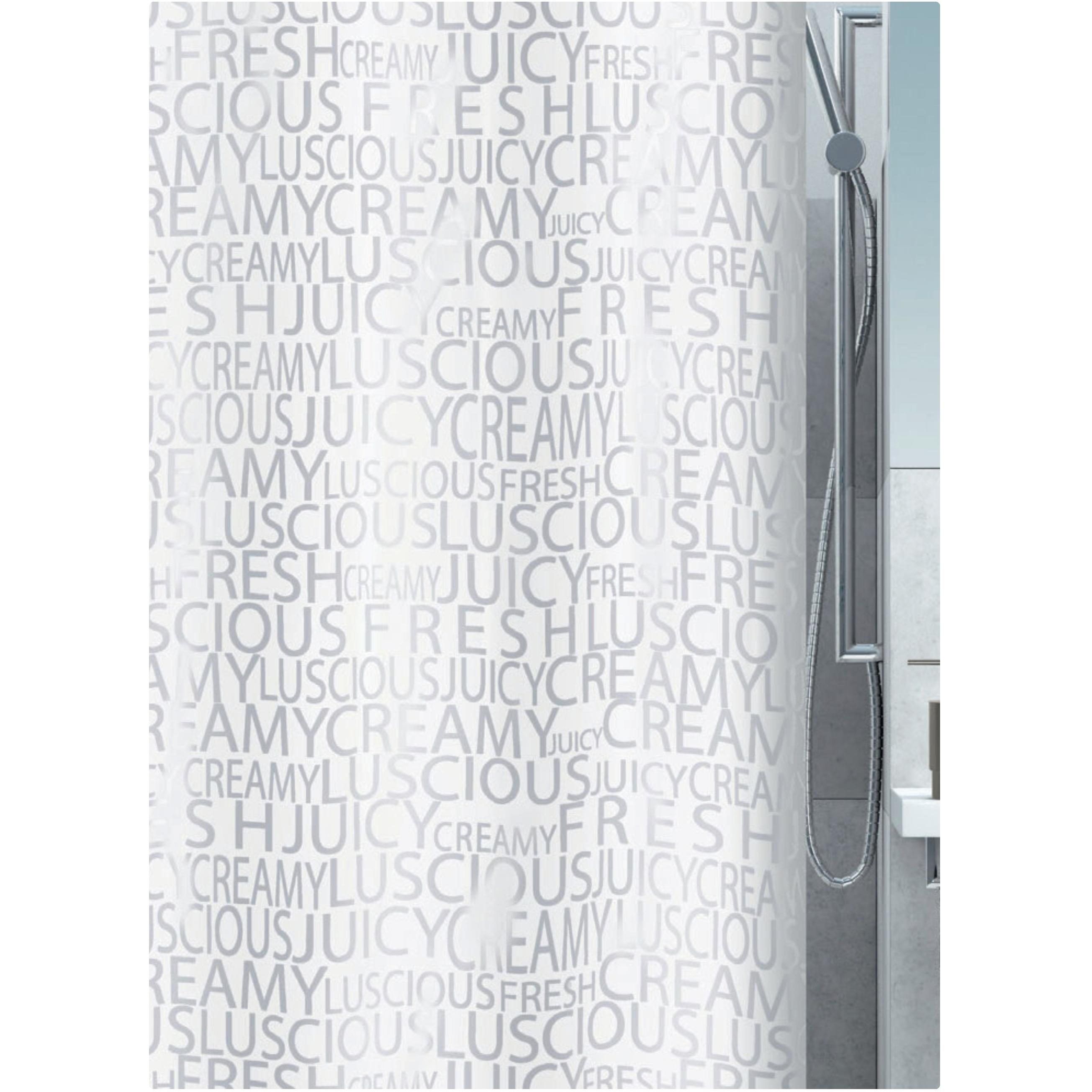 fabric shower curtain letters 100 polyester 180x200 cm. Black Bedroom Furniture Sets. Home Design Ideas