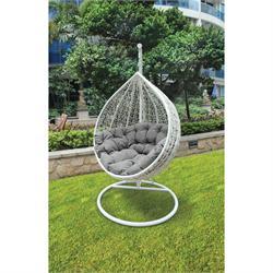 Swing chair metallic white