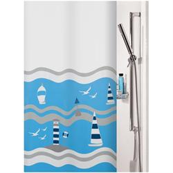Fabric shower curtain mare 100% polyester 180X200 cm