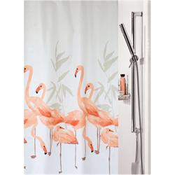 Fabric shower curtain birds 100% polyester 180X200 cm