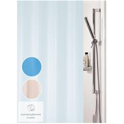 Fabric shower curtain ivory 100% polyester 180X200 cm