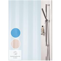 Υφασμάτινη κουρτίνα μπάνιου μονόχρωμη ιβουάρ 100% polyester 180X200 cm