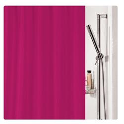 Fabric shower curtain fuchsia 100% polyester 180X200 cm