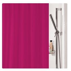 Υφασμάτινη κουρτίνα μπάνιου μονόχρωμη φούξια 100% polyester 180X200 cm