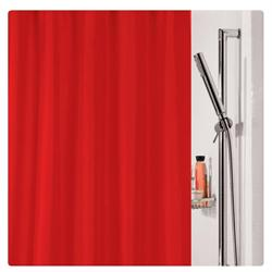 Υφασμάτινη κουρτίνα μπάνιου μονόχρωμη κόκκινο 100% polyester 180X200 cm