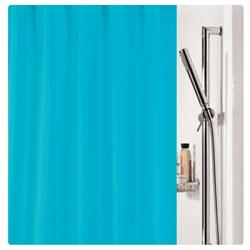 Fabric shower curtain turquoise 100% polyester 180X200 cm