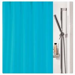 Υφασμάτινη κουρτίνα μπάνιου μονόχρωμη τυρκουάζ 100% polyester 180X200 cm