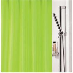 Υφασμάτινη κουρτίνα μπάνιου μονόχρωμη λαχανί 100% polyester 180X200 cm