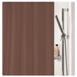 Fabric shower curtain brown 100% polyester 180X200 cm