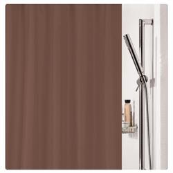 Υφασμάτινη κουρτίνα μπάνιου μονόχρωμη καφέ 100% polyester 180X200 cm