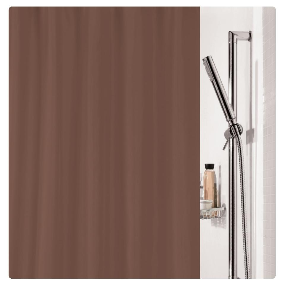 fabric shower curtain brown 100 polyester 180x200 cm. Black Bedroom Furniture Sets. Home Design Ideas