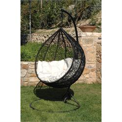 Swing chair metallic black