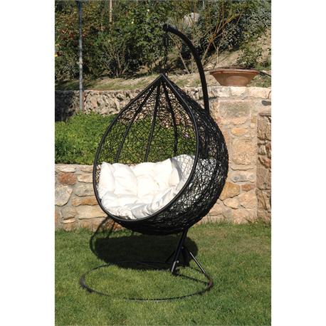 Swing chair metallic black