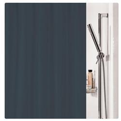 Υφασμάτινη κουρτίνα μπάνιου μονόχρωμη μαύρο 100% polyester 180X200 cm