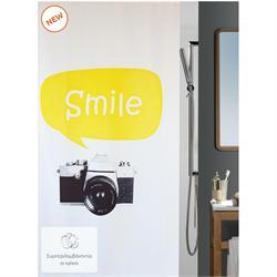 Υφασμάτινη κουρτίνα μπάνιου camera 100% polyester 180X200 cm