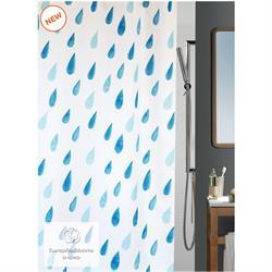 Υφασμάτινη κουρτίνα μπάνιου σταγόνες 100% polyester 180X200 cm