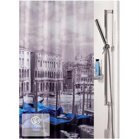 Fabric shower curtain Venice 100% polyester 180X200 cm