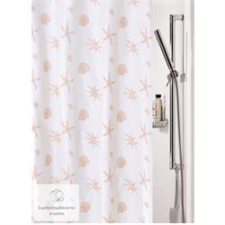 Υφασμάτινη κουρτίνα μπάνιου αστερίες 100% polyester 180X200 cm