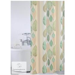 Υφασμάτινη κουρτίνα μπάνιου φύλλα 100% polyester 180X200 cm