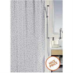 Υφασμάτινη κουρτίνα μπάνιου βοτσαλάκια 100% polyester 180X200 cm