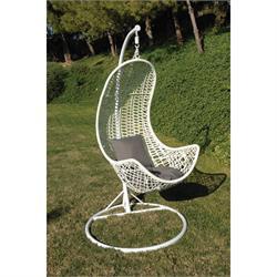 Κουνιστή καρέκλα μεταλλική άσπρη