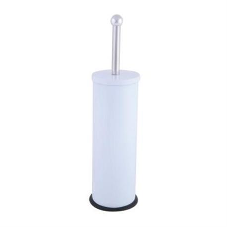Metallic toilet brush white