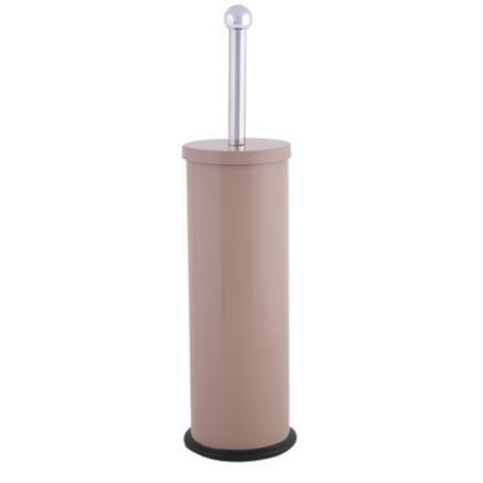 Metallic toilet brush beige for Beige bathroom bin