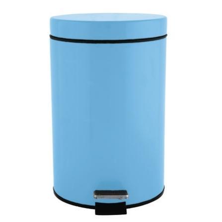 Metallic bin 7 lt light blue