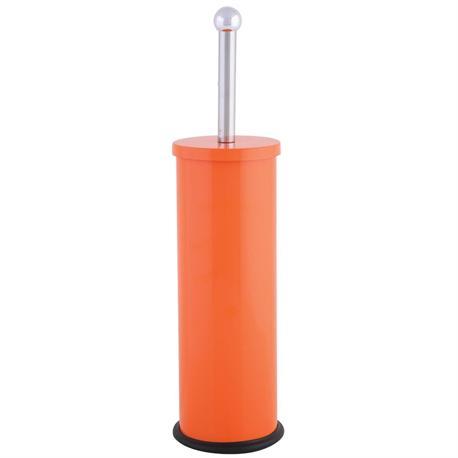 Metallic toilet brush orange for Orange toilet accessories