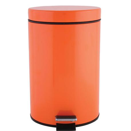 Metallic bin 7 lt orange