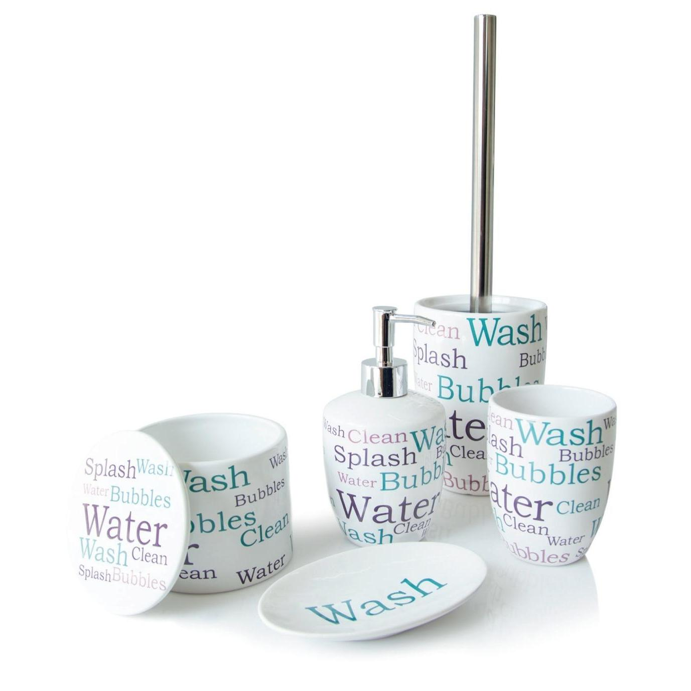 Set Dispenser With Glass And Soap Dish With Box Ceramic