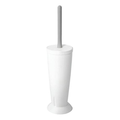Toilet brush plastic white