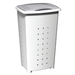 Πλαστικό λευκό καλάθι απλύτων 60 lt 42Χ64Χ35,5 cm