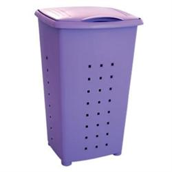 Plastic laundry basket purple 60 lt 42Χ64Χ35,5 cm