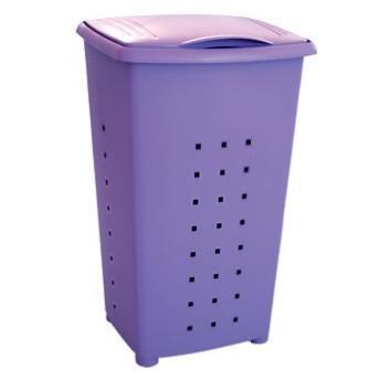 Plastic laundry basket purple 60 lt 42Χ64Χ35,5 cm
