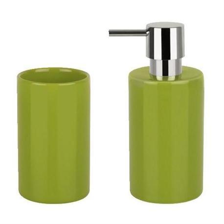 Set dispenser with glass ceramic green