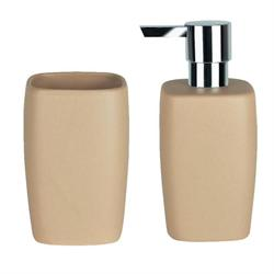 Set dispenser with glass ceramic beige art