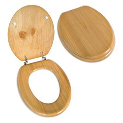 Toilet seat natural wood 36,7Χ42 cm