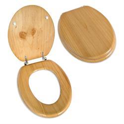 Toilet seat natural wood 36,7Χ42 cm