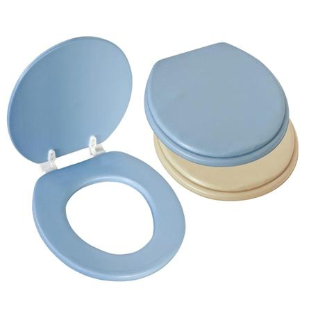 Plastic soft toilet seat light blue 40Χ43 cm
