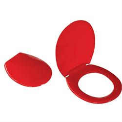 Πλαστικό καπάκι λεκάνης κόκκινο