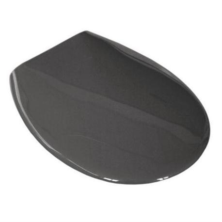 Plastic toilet seat grey
