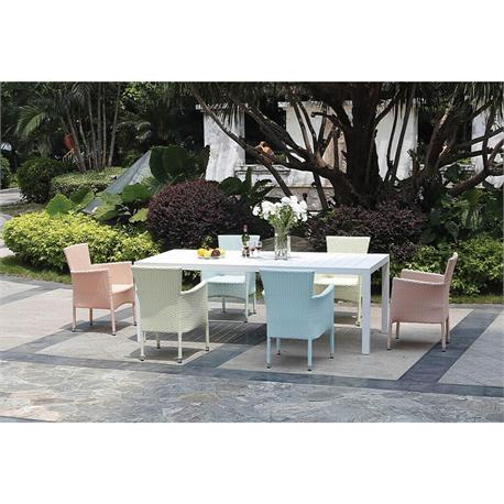 Dining set 7 pcs Rattan colors
