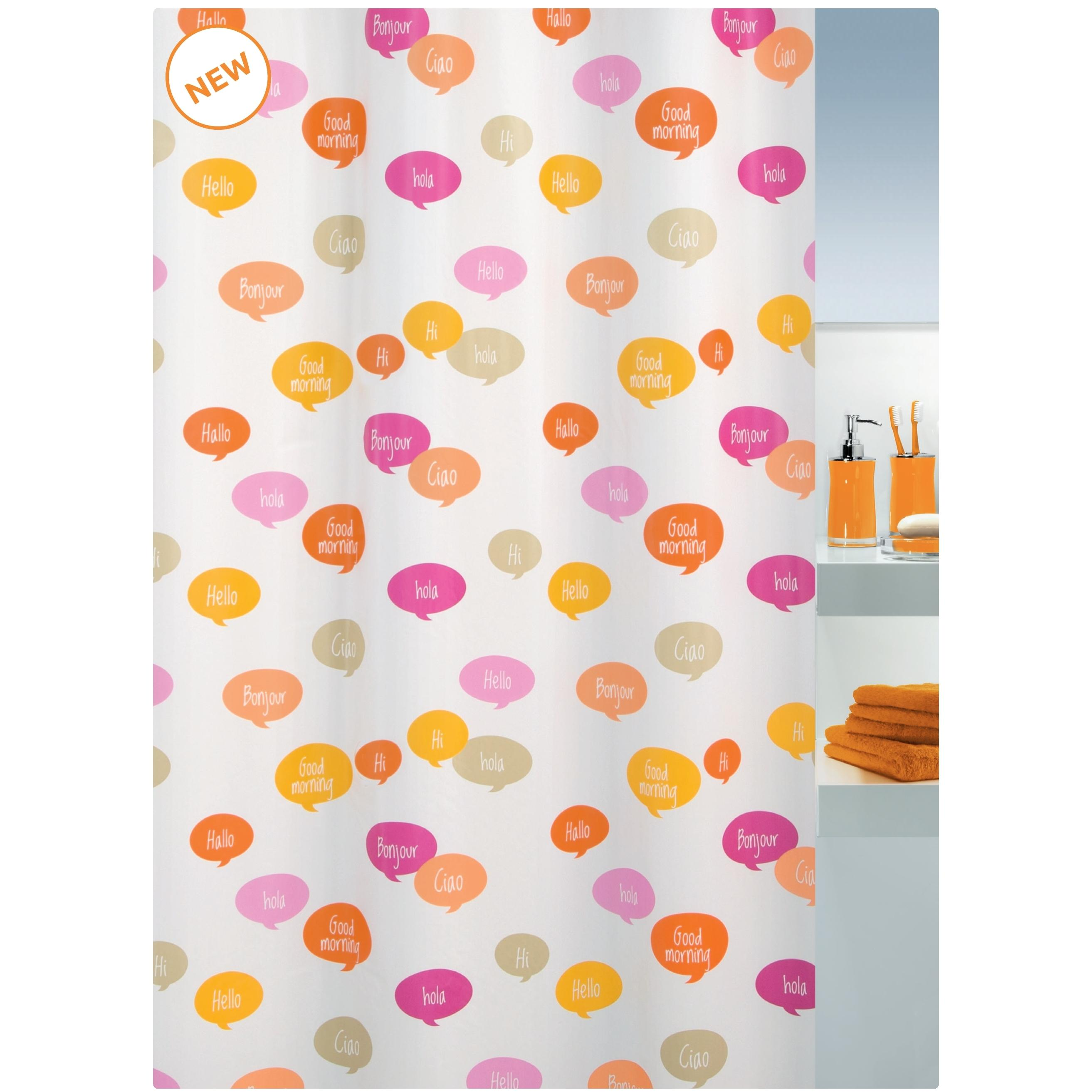 shower curtain goodmorning 100 peva 180x200 cm. Black Bedroom Furniture Sets. Home Design Ideas