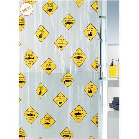 Shower curtain danger 100% peva 180X200 cm