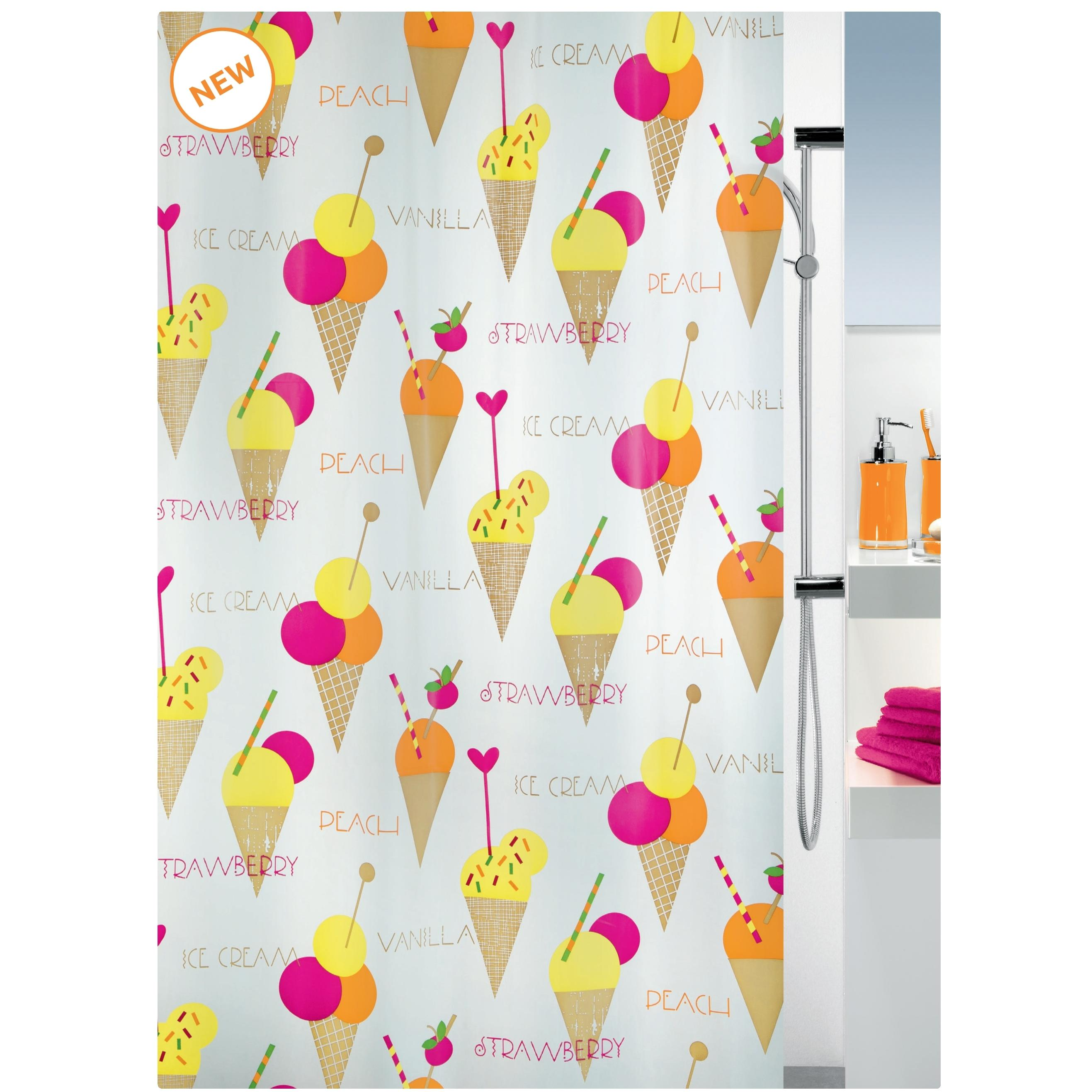 shower curtain cone 100 peva 180x200 cm. Black Bedroom Furniture Sets. Home Design Ideas