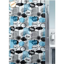 Shower curtain graphic 100% peva 180X200 cm