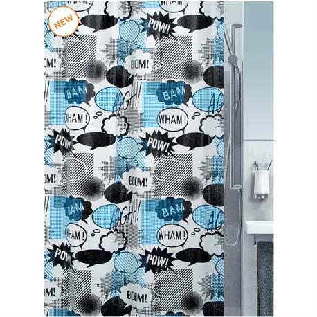 Shower curtain graphic 100% peva 180X200 cm