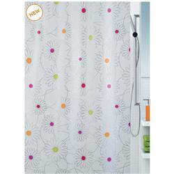 Shower curtain daisy 100% peva 180X200 cm