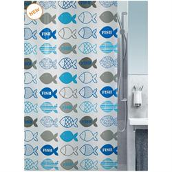 Shower curtain fish 100% peva 180X200 cm